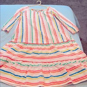 Boden size 2 multicolored striped dress